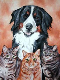 Hundeportrait, Malerei, Tiere, Portrait
