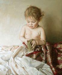 Sari, Mädchen, Jung, Ölmalerei