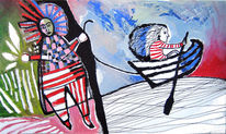 Malerei, Menschen, Tochter