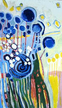 Malerei, Pflanzen, Kornblumen