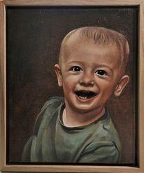 Junge, Malerei, Kinderportrait, Portrait
