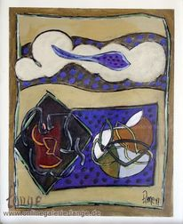 Cipressa, Gemälde, Beige, Acrylmalerei