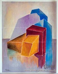 Blau, Farben, Gemälde, Malerei