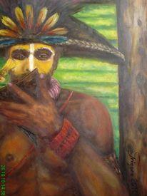 Afrika, Malerei, Mann