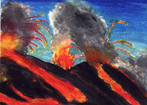 Vulkan, Malerei