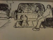 Gedankenmalerei, Sylvester, Abend, Illustrationen
