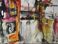 Blick, Fenster, Malerei