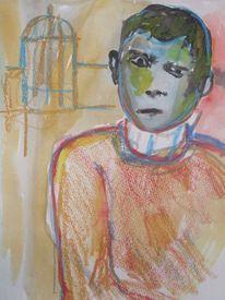 Junge, Alperkara, Malerei,