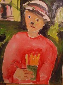 Pommes, Junge, Malerei
