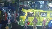 Straßenbahn, Packung gauloises, Montagmorgen, 00 uhr