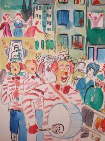 Karneval in köln, Malerei, Köln, Karneval