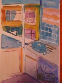 Küche skizealperkara, Malerei, Küche, Skizze