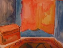 Kisteskizze, Leer, Zimmer, Malerei