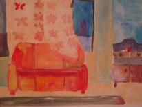 Wohnzimmerskizzen, Malerei, Wohnzimmer