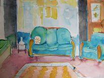 Wohnzimmer, Malerei