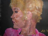 Mädchen, Portrait, Acrylmalerei, Malerei