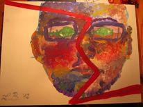 Selbstportrait, Acrylmalerei, Zerstören, Kaputt