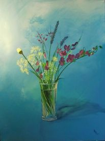 Blumen, Garten, Rot, Grün