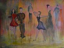 Mai, Menschen, Tanz, Malerei