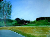 Morgenstimmung, Landschaft, Lippen, Malerei
