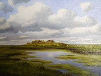 Nordfriesland, Halligen, Nordsee, Malerei