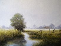 Friesland, Ostfriesland, Weite, Malerei