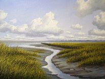 Ölmalerei, Nordsee, Ostfriesland, See