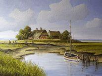 Halligen, Nordfriesland, Nordsee, Malerei