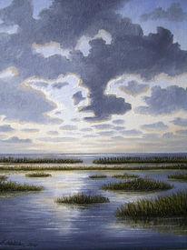 Meer, Nordsee, See, Abendstimmung