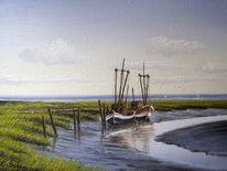 Friesland, Watt, Nordsee, Weite