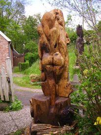 Skulptur, Akt, Holz, Frau