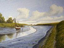 Friesland, Hafen, Watt, Hooksiel