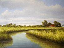 Ostfriesland, Wasser, Lothar strübbe, Malerei