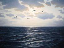 Ölmalerei, Nordsee, Wasser, Malerei