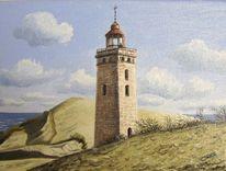 Nordsee, Dänemark, Leuchtturm, Malerei