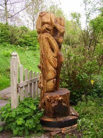 Kunsthandwerk, Holz, Skulptur, Akt