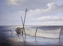 Nordsee, Abendstimmung, See, Watt