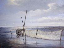 Watt, Meer, Nordsee, Abendstimmung