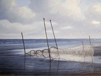 Meer, Watt, Abendstimmung, Nordsee
