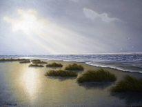 Stimmung, Nordsee, Ostfriesand, Malerei