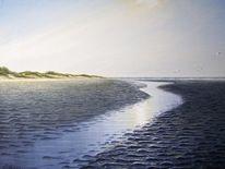 Watt, Priel, Nordsee, Dünen