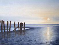 Nordsee, Stimmung, Watt, Malerei