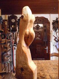 Frau, Skulptur, Plastik, Akt