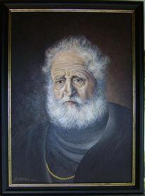 Malerei, Menschen, Mann, Alter
