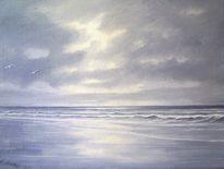 Wangerooge, Wasser, Ölmalerei, Nordsee