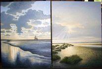 Abendstimmung, Meer, Sand, Nordsee