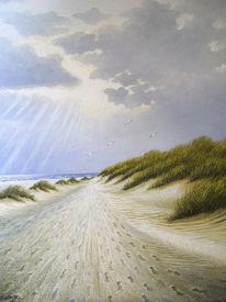 Insel, Meer, Wolken, Strand