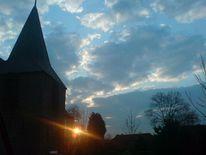 Kirche, Sonne, Glockengasse, Himmel