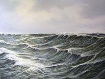 Nordsee, Ostfriesand, Meer, Malerei