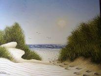 Sand, Gemälde, Strübbe, Wasser